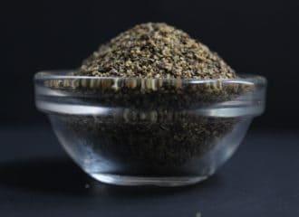 Black pepper in clear cup