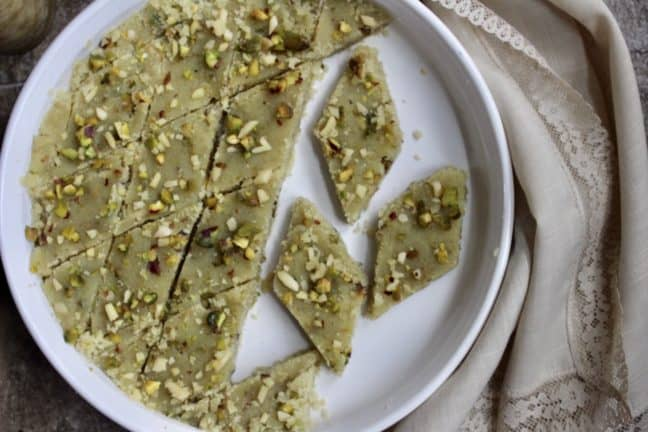 Halwau-E Aurd-E Sujee in baking tray