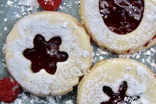 Close up of Algerian cookies