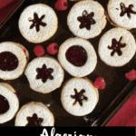 Christmas Shortbread Cookies Pinterest Image Bottom Black Banner