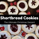 Christmas Shortbread Cookies Middle Black Banner