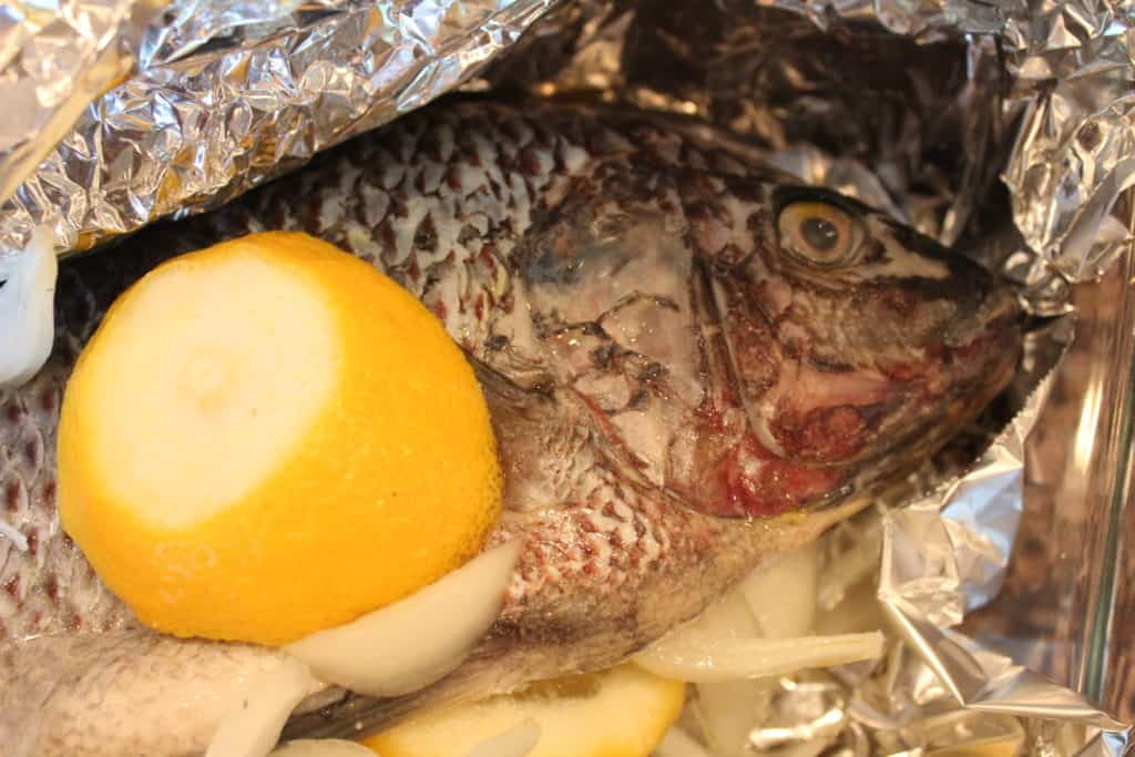 Angolan Tilapia with lemon