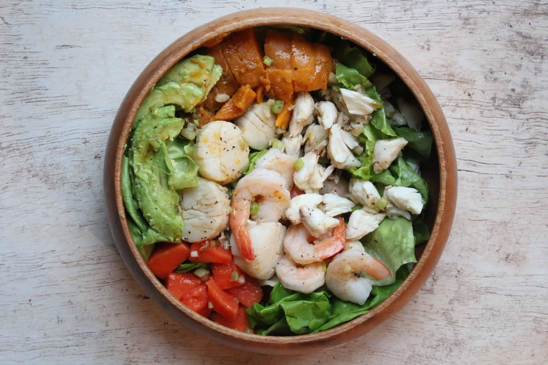 Full Caribbean Seafood Salad