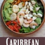 Caribbean Seafood Salad bottom design banner