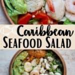 Caribbean Seafood Salad middle design banner