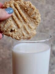Tahini Cookies and Milk