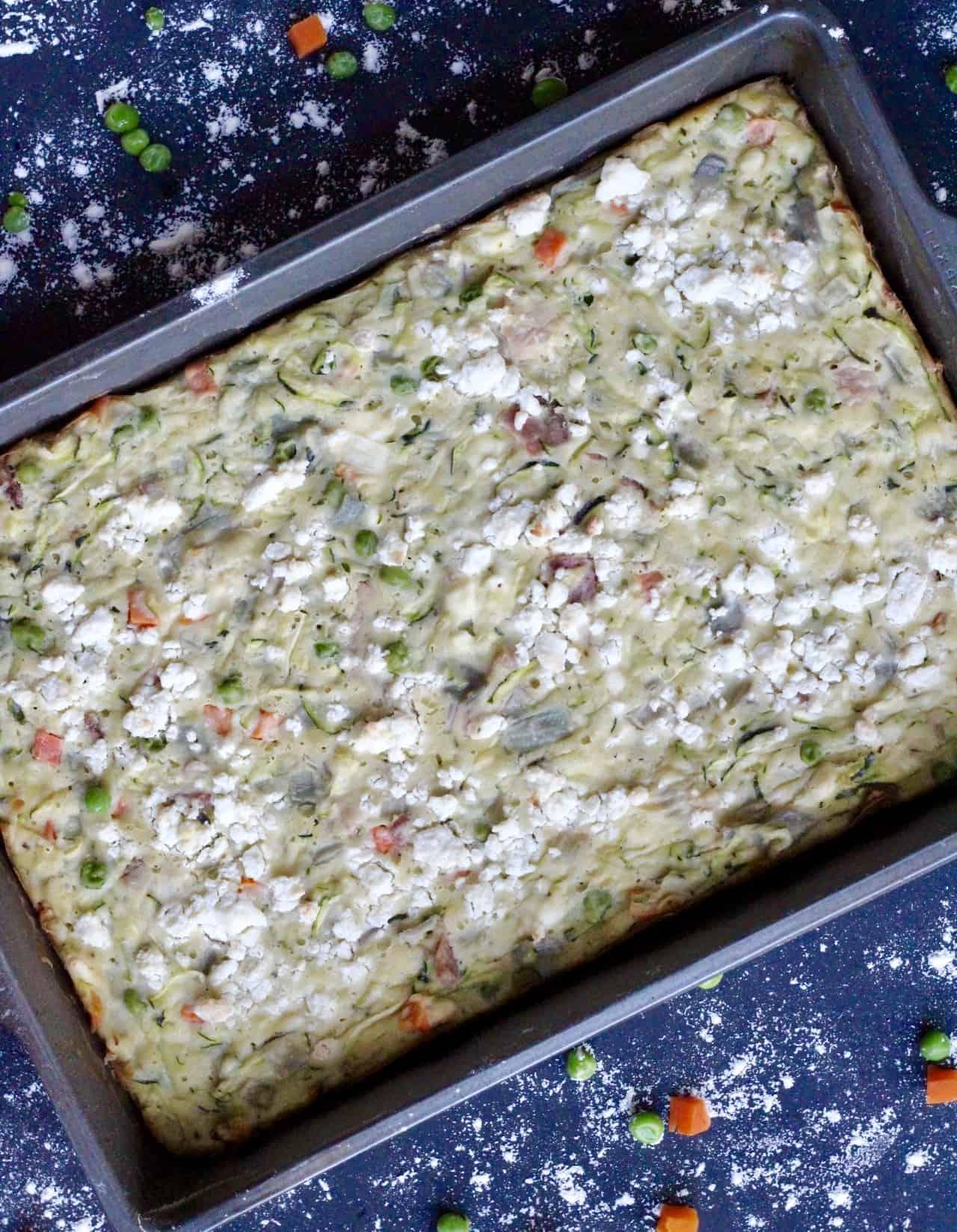 Zucchini slice in a pan