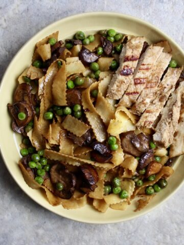 Australian Vegemite Pasta Full Plate