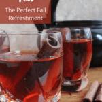 Cinnamon Tea Recipe Pinterest Image Top Left Banner