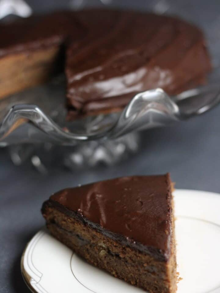 Sacher Torte piece remove