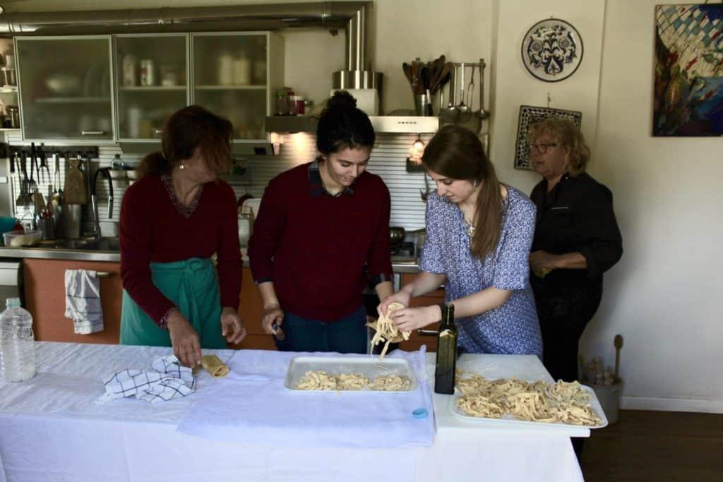 Making Pasta for Claudias Easter Dinner