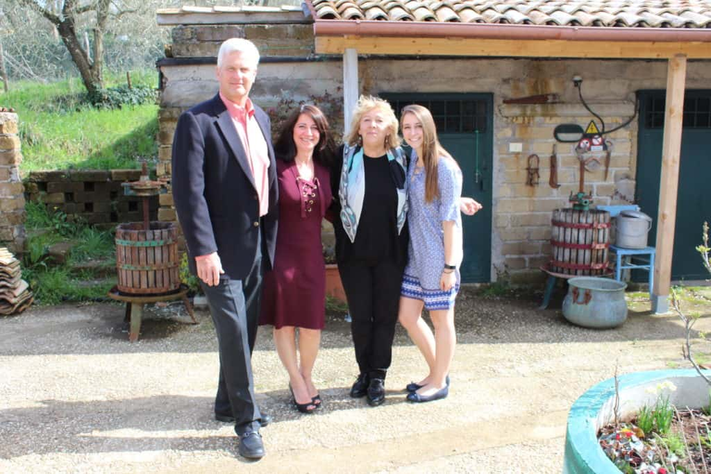 Family and Claudia on Easter
