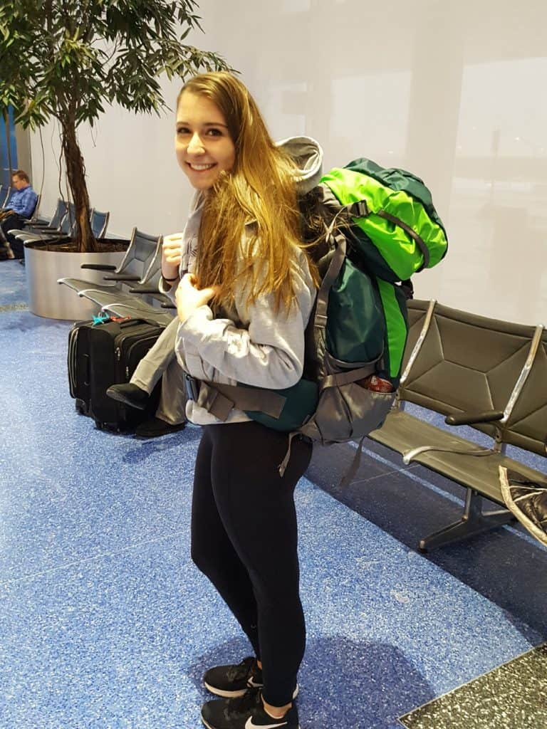 Alexandria with Backpack