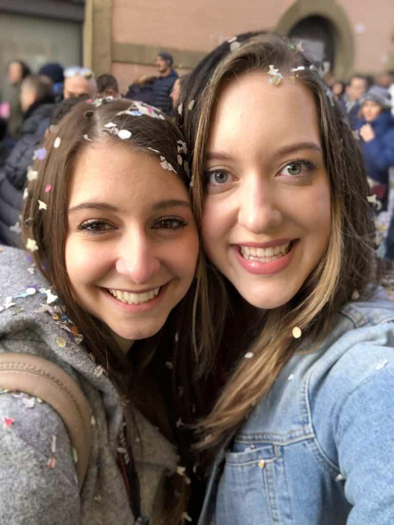 Frascati Carnevale with Confetti in Hair