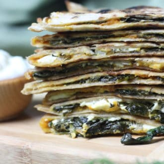 Stack of Qutab crepes