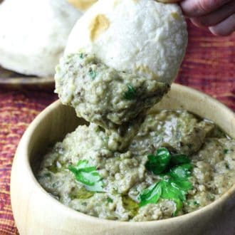 Baba Ganoush with bread