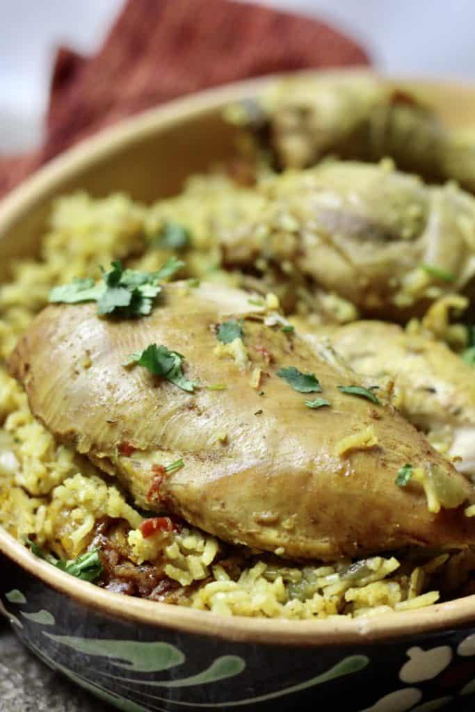 Machboos with Chicken Breast