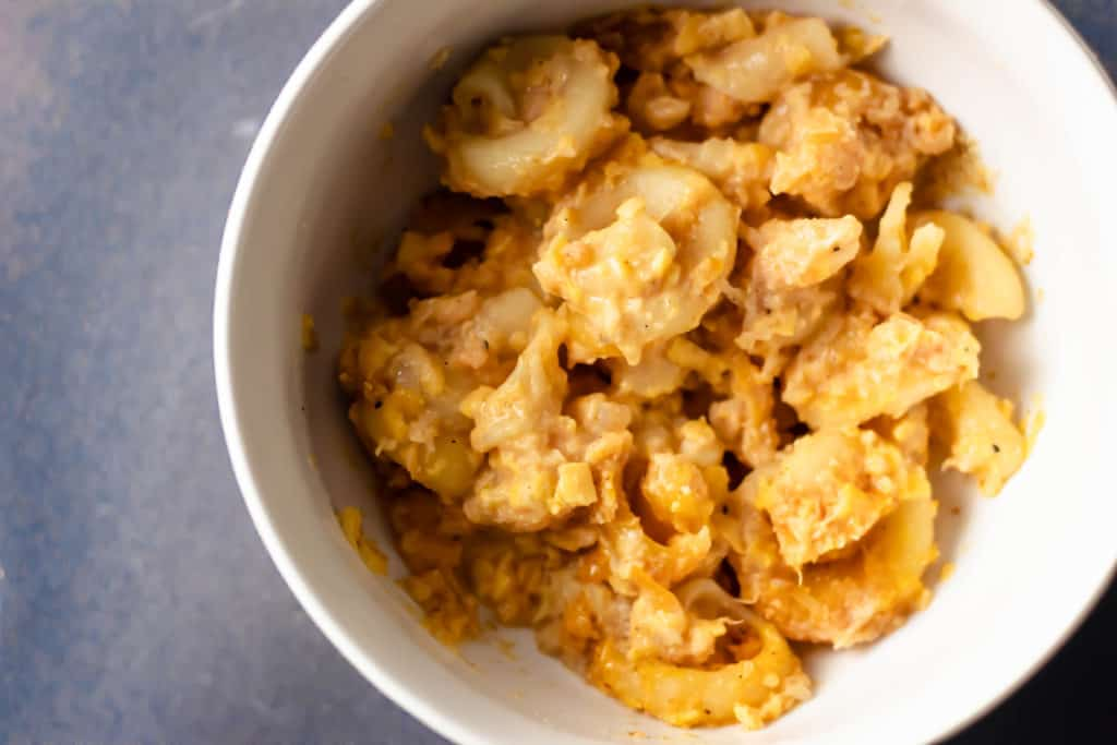 Barbadian Macaroni Pie Up Close