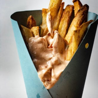 Fries with Andalouse Dipping Sauce