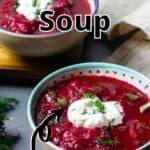 Borscht Soup Pinterest Image top outlined title