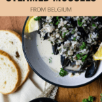Wine Steamed Mussels From Belgium Pinterest Image