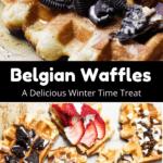Christmas Belgian Waffles Middle Black Banner