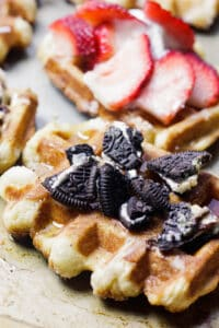 Beligan Waffles with oreos