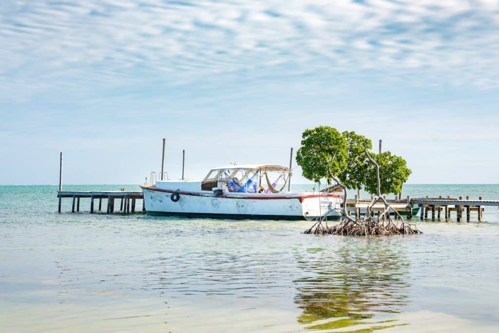 Belize Boat in Water