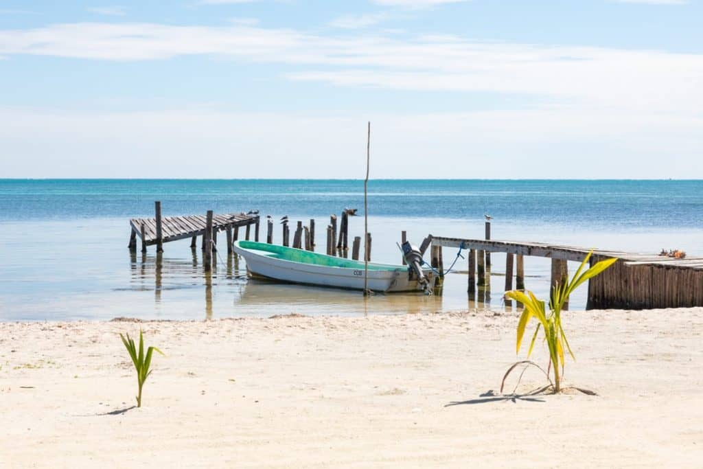 Dock in Water in Belize