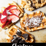 Christmas Belgian Waffles Bottom Black Banner