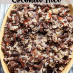 Red Beans & Coconut Rice Pinterest Image
