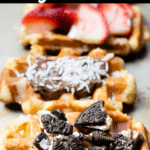 Christmas Belgian Waffles Top Black Banner
