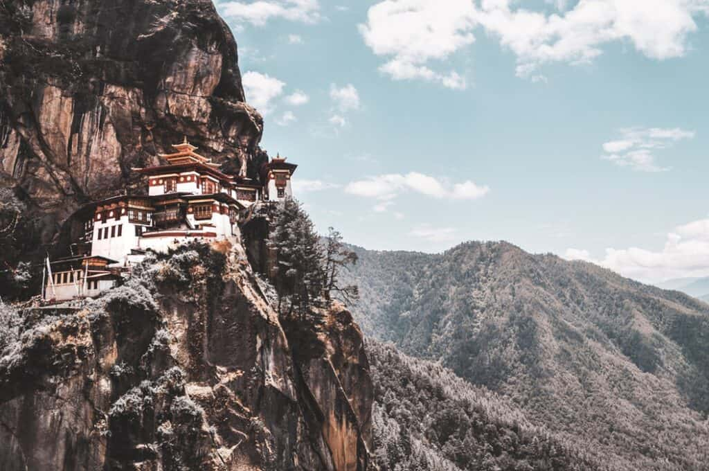 House in the mountains in the Himalayas