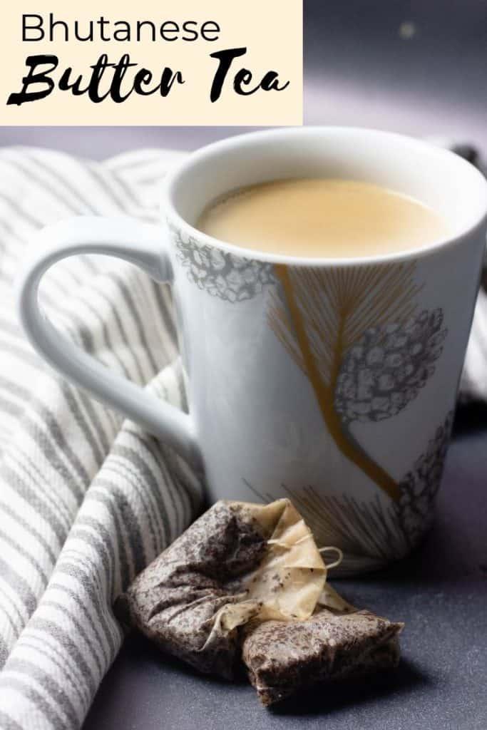 Pinterest image for butter tea