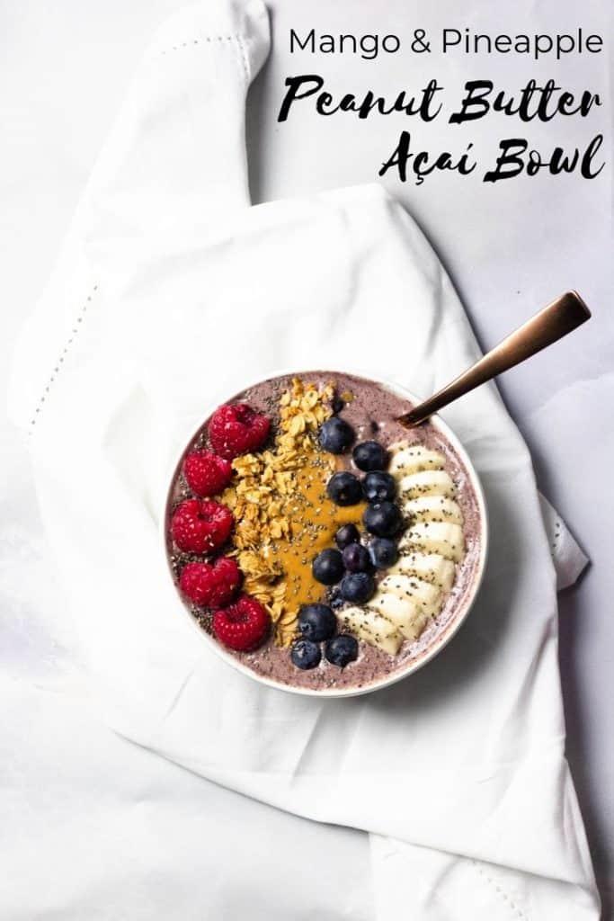 Acai Bowl Pinterest Graphic