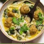 Thai Inspired Meatball Soup Pinterest Image Bottom banner