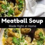 Thai-Inspired Meatball Soup Pinterest Image middle black banner