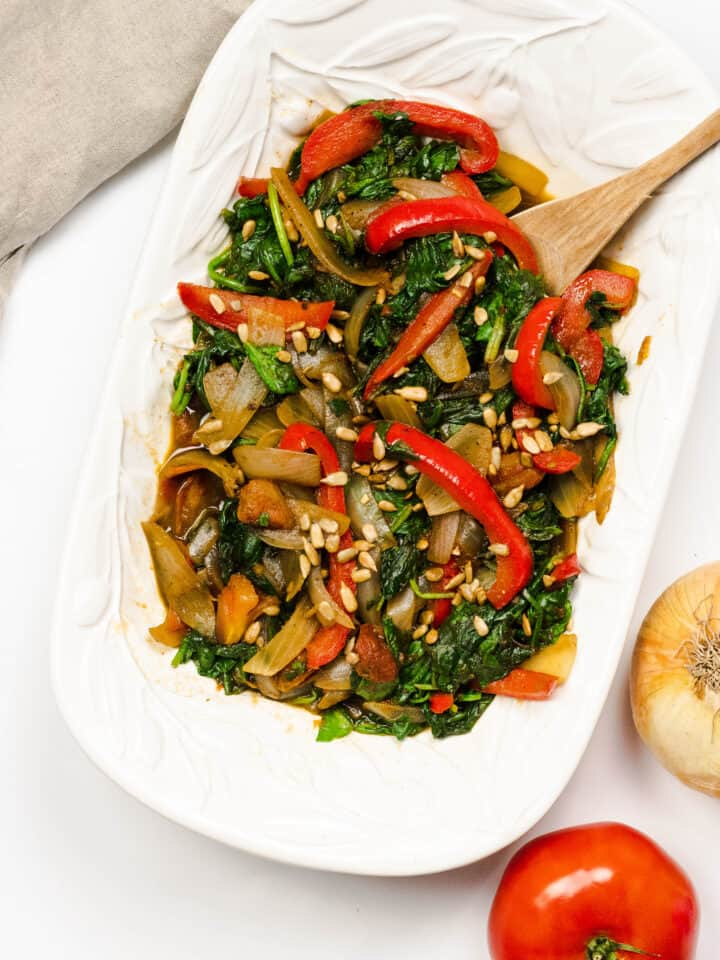 sauteed spinach from botswana