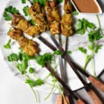 Chicken Satay with Peanut Sauce from Brunei