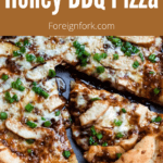 Honey BBQ Pizza Pinterest Image Large Brown Banner