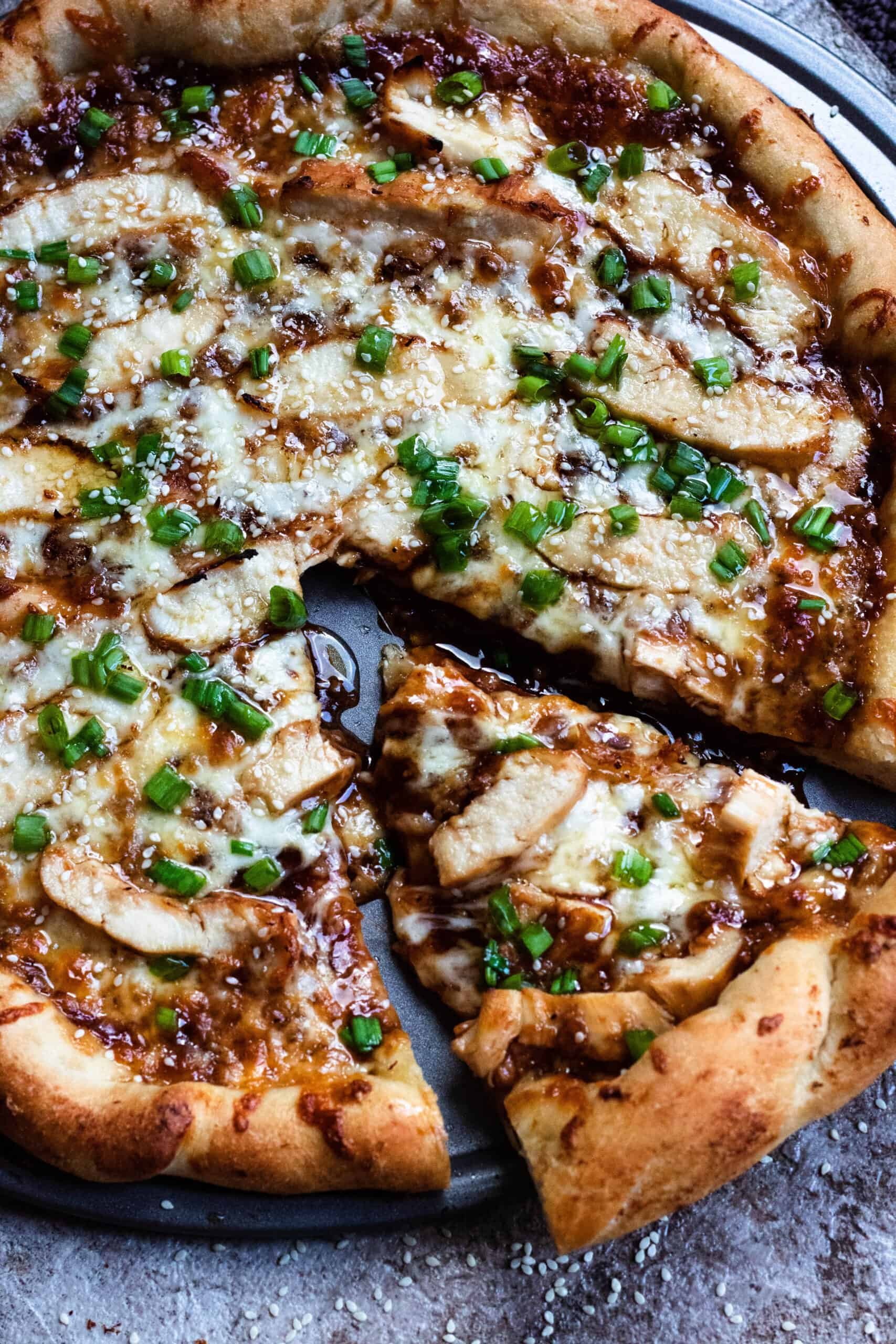 Honey Barbecue Chicken Pizza From Brunei The Foreign Fork