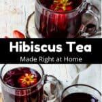 Homemade Hibiscus Tea Pinterest Image middle black banner