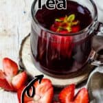 Homemade Hibiscus Tea Pinterest Image top outlined title
