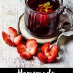 Homemade Hibiscus Tea Pinterest Image bottom black banner