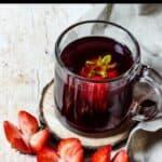 Homemade Hibiscus Tea Pinterest Image Top black banner