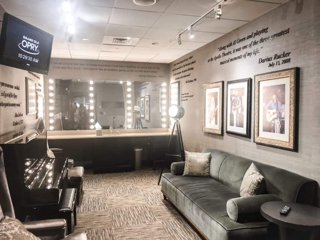 A dressing room in the Grand Ole Opry in Nashville