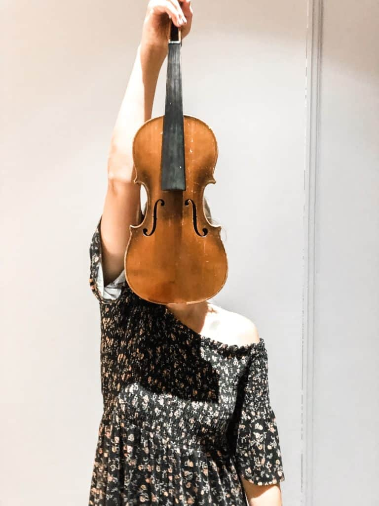 Alexandria with a violin
