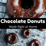 Homemade Chocolate Donuts Pinterest Image Middle Black Banner