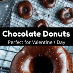 Valentine's Day Chocolate Donuts Pinterest Image middle black banner
