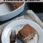 Christmas Tiramisu Dessert Top Banner with Brown Stripe